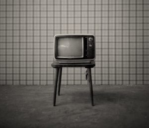 Old TV In a room